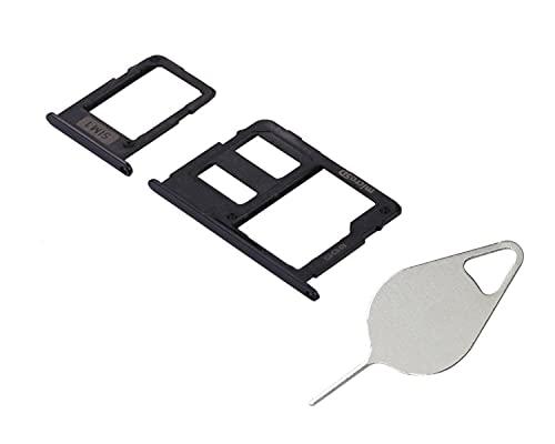 OnlyTech- Cajón para tarjeta SIM y tarjeta de memoria micro SD compatible con Samsung Galaxy J5 2017 SM-J530 negro + herramienta de extracción