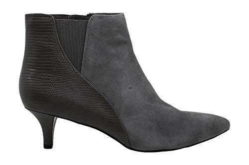 Bandolino Womens Wishstar Leather Pointed Toe Ankle Fashion, Grey, Size 11.0