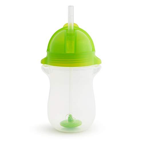 Munchkin 012463 - Vaso con Pajita, Lastrado y con Tecnología Click Lock Tip And Sip, de Munchkin; 296 Ml/10 Oz, Pack de 1, Verde, unisex