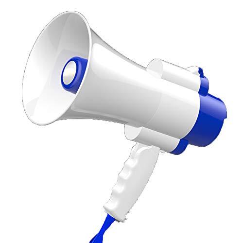 CNCBT Megáfono, megáfono micrófono Desmontable Altavoz con Sirena de Alarma y Volumen...