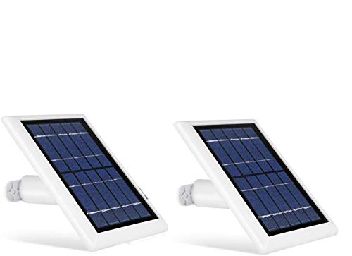 Wasserstein Solar Panel with Internal Battery Compatible with Blink Outdoor & Blink XT2/XT Camera (2-Pack, White)