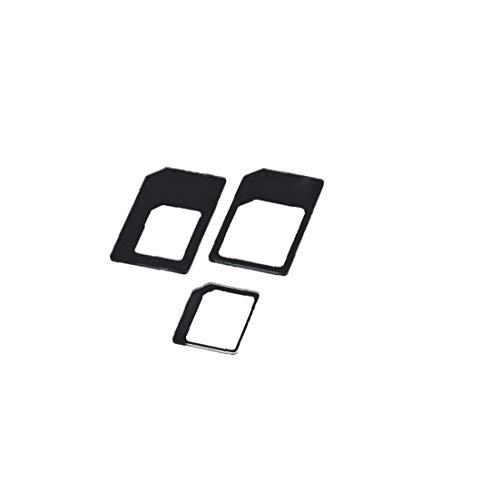 Naicasy 1 Conjunto práctico Nano SIM Adaptador Micro SIM Adaptador Nano a Micro convertidor Adaptador de Tarjeta SIM Negro