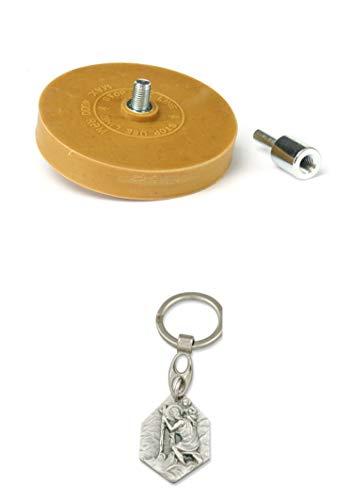 Zisa-Kombi Bohrmaschinen-Radierscheibe mit Adapter, Ø 90 mm (985988501603) mit Anhänger Herz Jesu 2,5cm