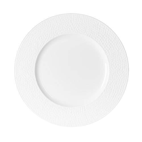 - assiette à dessert louna relief blanc 21 cm (lot de 6)