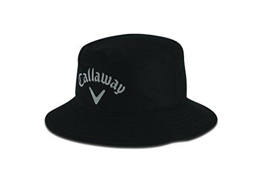 Callaway - Sombrero impermeable Aqua Dry Hombre, Negro (Negro 5215156), Medium (Tamaño del fabricante:L/XL)