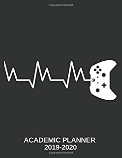 Gamer Academic Planner 2019-2020: Designer Office Desk Present School Year Organizer for Teen Gaming Students Schedule Monthly Weekly and Daily Assignment Tracker + Calendar Notes
