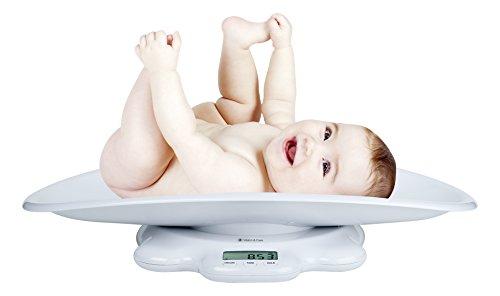 Audioline BW-1000, Elektronische Waage mit hoher Präzision für Babys und Kinder bis 50 KG