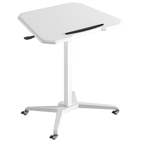 Computer Desk Office Standing Movable Workbench Liftable Table Beside The Bed Collapsible Children's Room for Learning Home Desk Notebook Computer Stands ( Color : White , Size : 70*45*73 - 108 cm )