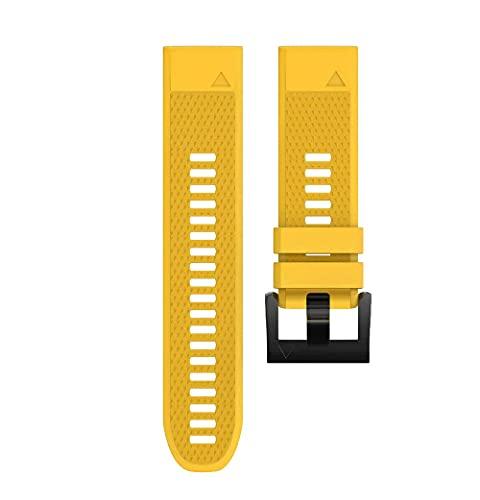 Correa de Reloj Silicona Compatible con Garmin Fenix 5,Easy-Fit Reemplazo Correa , 20mm, 22mm, 26mm, Correa de Repuesto Deportiva, Correas de Reloj Inteligente Transpirables Ajustables |Varios Colores