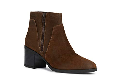 Geox New Asheel Ankle - Botas para Mujer, Color marrón