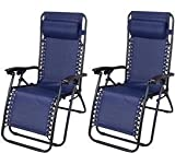 Outsunny Zero Gravity Recliner Lounge Patio Pool Chair - 2...