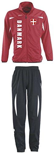 Aprom-Sports Dänemark Trainingsanzug - Sportanzug - S-XXL - Fußball Fitness (XL)