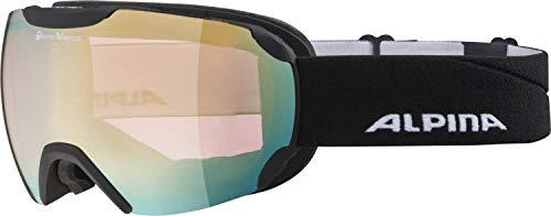 ALPINA PHEOS Skibrille, Unisex– Erwachsene, black matt, one size