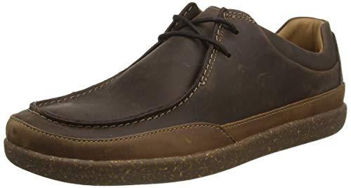 Clarks Herren Un Lisbon Walk Sneaker Niedrig, Braun (Brown Leather), 46 EU