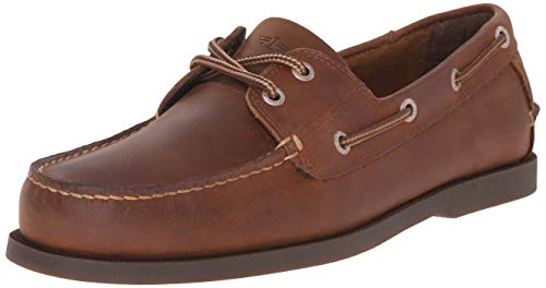 Dockers Men's Vargas Leather Handsewn Boat Shoe,Rust, 12 M US