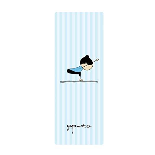 HSJ LF- Colchoneta de Yoga Manta de Yoga de Gamuza compuesta de Goma Antideslizante ensanchada y extendida Antideslizante (Color : D, Size : 4MM)