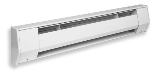 KING 6K2412BW K Series Baseboard Heater, 6' / 1500-1125W / 277-240V, Bright White