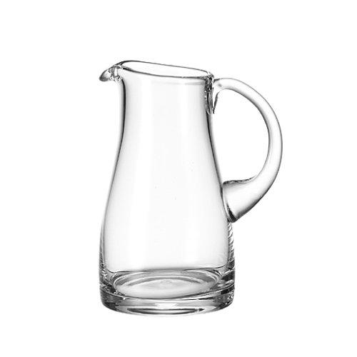 Leonardo Liquid Krug, handgefertigter Glas-Krug, Wasser-Karaffe mit Henkel im klassischen Design, 1300 ml, 065329