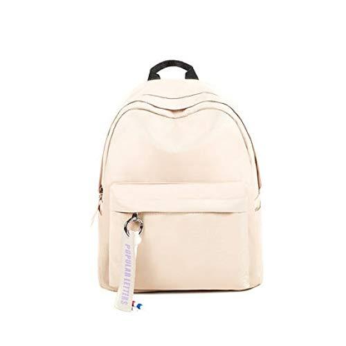 Fashion Casual Rucksack für Studenten, große Kapazität, einfarbig, einfacher Rucksack für Damen. Siehe Abbildung 5
