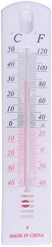 szlsl88 Muur Thermometer OM Thermometer Indoor Outdoor Temperatuur Thermometer Met Ophanggat voor Home Office Tuin of Kas (als de afbeelding)