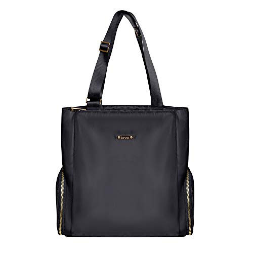 Kiinde Anika Breast Pump Bag with Cooler Pocket, Laptop Compartment, Professional and Stylish, Large Capacity, Easy to Clean, Black with Grey Interior