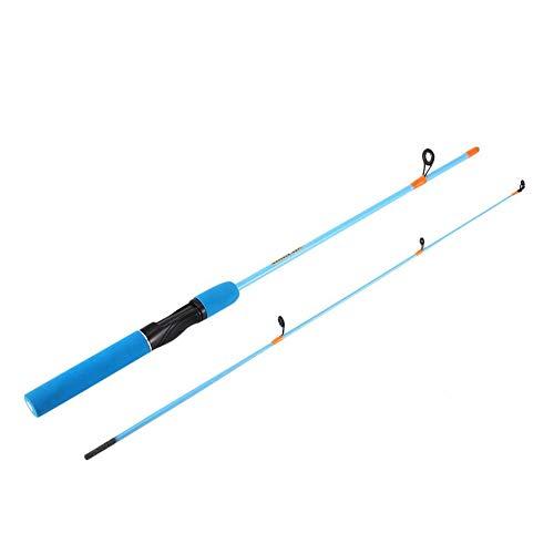 Silverdrew Caña de pescar de color para pesca al aire libre 1.2 M Mango recto Caña de pescar de hielo Caña de pescar de invierno Equipo de pesca Poste para niños