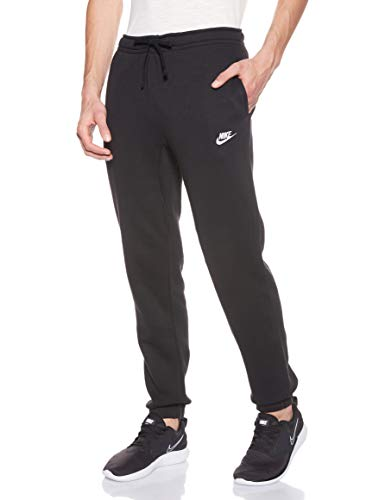 Nike Herren Jogger Fleece Club Trainingshose black/White, XL