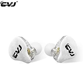 CVJ CSA in Ear Earphone,HiFi Bass in Ear Monitor, IEM Wired Headphones, HiFi Stereo Sound Earphones Noise Cancelling Ear Buds with Dual Magnetic DD and 1BA Drivers 0.75mm 2pins Cable(No Mic,White)