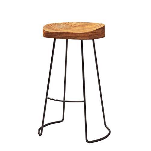 Einfacher Barhocker aus Schmiedeeisen, Kiefernstuhl, Moderne Bar, Hochtisch und Stühle Für Wohnzimmer, Couchtisch