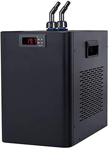 BAOSHISHAN 160L Acuario Enfriador de agua Enfriador Kit de bomba adicional Enfriador de tanque de pescado Equipo de cultivo de mariscos 220V (Unidad de temperatura del agua: ℃)