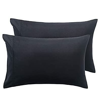 Bedsure Brushed Microfiber Pillow Cases - Pillowcases 2 pack with Envelope Closure, 50 x 75 cm from Bedshe