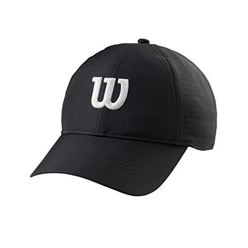 Wilson Tenniskappe, Ultraleicht, 100 Prozent Polyester, Einheitsgröße, schwarz/weiß, WRA777102