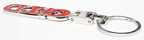 Autodily - GTD Schlüsselring Metall Chrom Rot Golf Passat Polo
