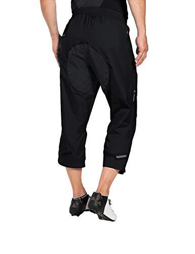 VAUDE Herren Drop 3/4 Pants Regenhose für Radsport Hose, Black, 48 - 3