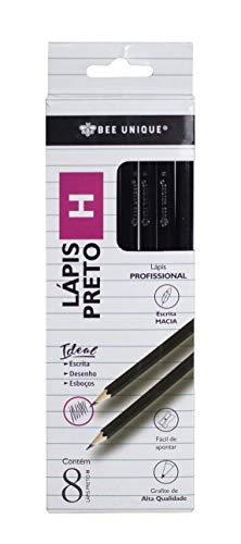 Lápis Preto H Com 8 Un Hexagonal Madeira