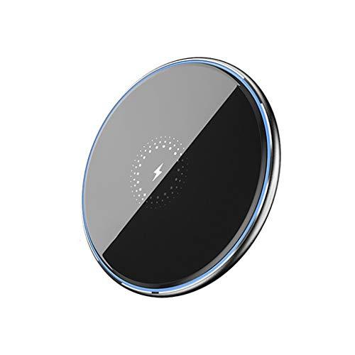 GFDFD Cargador de Carga rápida inalámbrica de Escritorio 15W Cargador inalámbrico Induction Fast Wireless Pad de Carga (Color : Black)