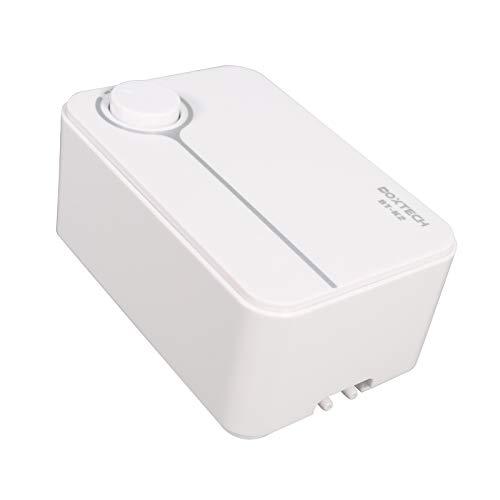 boxtech Ultra-Leise Luftpumpe für Aquarium, 3 Watt 2 l/min Einstellbares Luftvolumen mit 2 Belüftungspumpen für 10-550 Liter Panzer (Luftpumpe)
