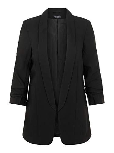 PIECES Pcboss 3/4 Blazer Noos Chaqueta de Traje, Negro (Black Black), 40 (Talla del Fabricante: Medium) para Mujer