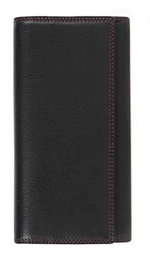 Visconti ® Portafoglio Donna Vera Pelle con protezione RFID Porta Carte di Credito con Portamonete Borsellino Portafogli Porta Banconote -COLORADO (CD-21 Nero/Rosso - Blk/Red)