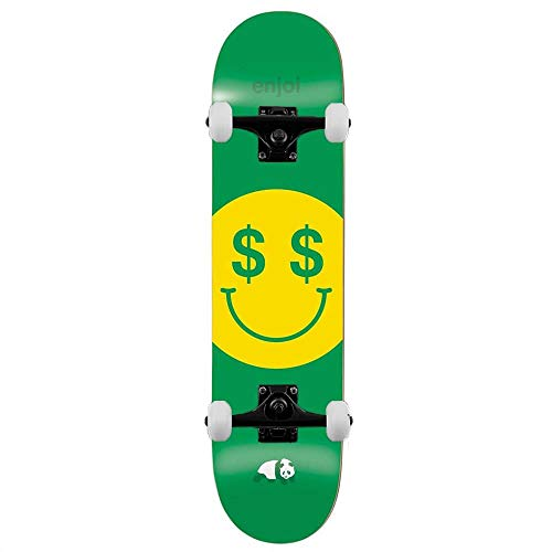 Enjoi Cash Money - Skateboard completo, 21 cm, colore: Verde