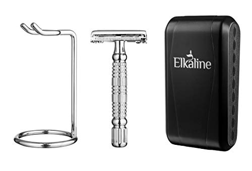 5. Elkaline Safety Razor with Stand