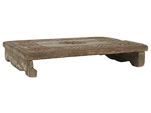 IB Laursen Deko Brett mit Schnitzereien UNIKA Holz Tablett 40 cm Unikate