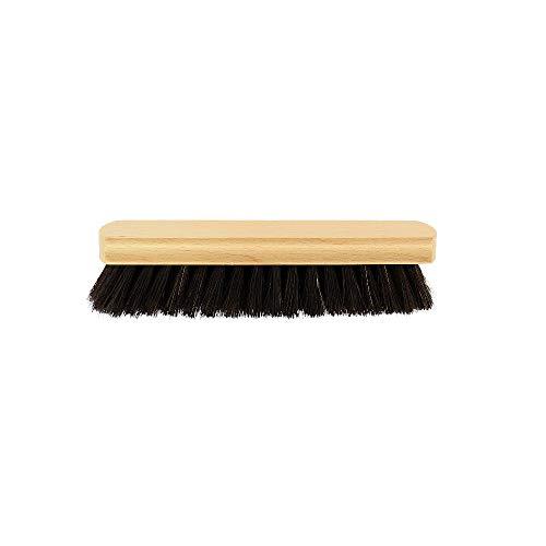 3X HOFMEISTER® Glanzbürste für Schuhe & Stiefel, 15 cm, Schuhbürste zum Pflegen von Glattleder, dunkle Naturborste & Buchenholz, robuste Polierbürste, geeignet für alle Lederschuhe