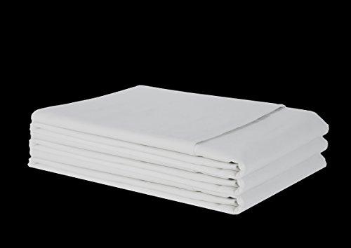 Castejo laken/bedlaken/huisdoek/laken zonder elastiek CA96 van 100% katoen in verschillende maten ca. 145 g/m² kleur wit