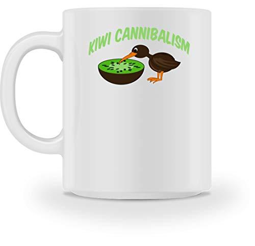 SPIRITSHIRTSHOP Kiwi Cannibalism - kiwivruchten en kiwivogel - mok