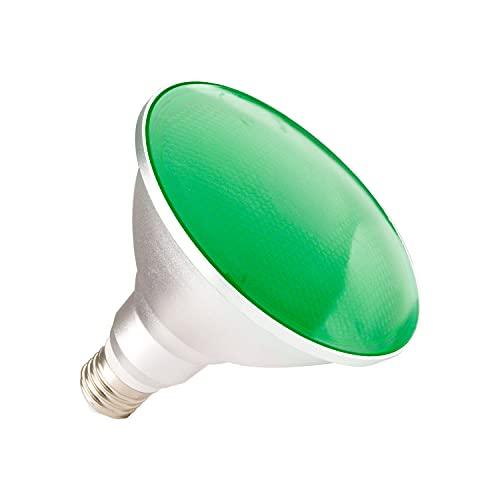 LEDKIA LIGHTING Bombilla LED E27 Casquillo Gordo PAR38 15W Waterproof IP65 Luz Verde Verde