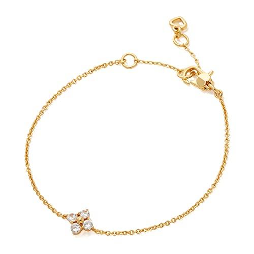 Kate Spade Cross Flower Bracelet Bracelet One Size Clear Gold