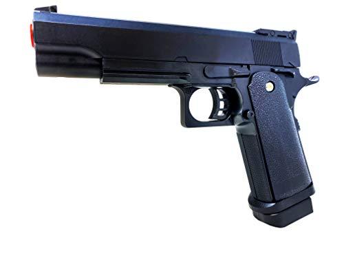 Softair Gun Set Airsoft Federdruck Pistole 23cm Inkl Magazin 0,48 Joule Black