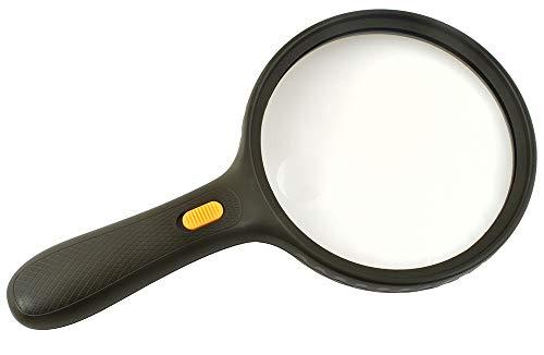 ISO TRADE Lupe Leselupe 3xLED Licht Handlupe für Senioren 5 Fach Vergößerung Leichtgewicht 6204