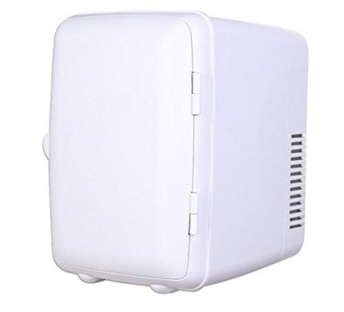 AMYMGLL Mini Petit Réfrigérateur Voiture électronique Chaud et Froid Boîte 4L Voiture Réfrigérateur Domestique Porte Simple Petit Réfrigérateur/Maison et Voiture à Double Usage (220V/12V), Blanc